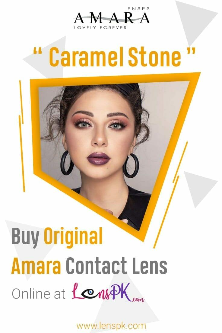 Amara Caramel Stone Eye Contact Lenses