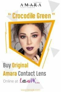 Amara Crocodile Green Eye Contact Lenses