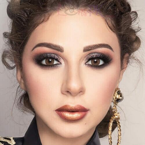 Buy Amara Burned Cinnamon Eye Contact Lenses in Pakistan @ Lenspk.com