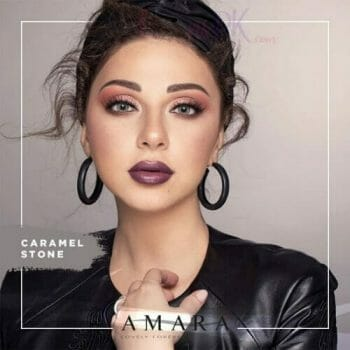 Buy Amara Burned Caramel Stone Eye Contact Lenses in Pakistan @ Lenspk.com