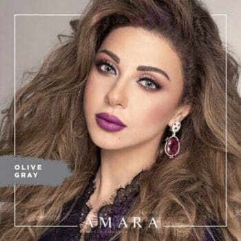 Buy Amara Olive Gray Eye Contact Lenses in Pakistan @ Lenspk.com