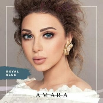 Buy Amara Royal Blue Eye Contact Lenses in Pakistan @ Lenspk.com