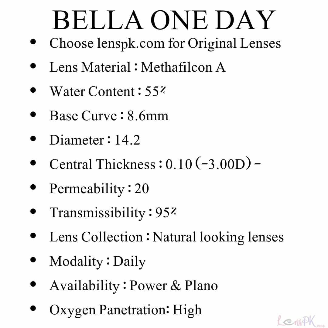 bella oneday lenses